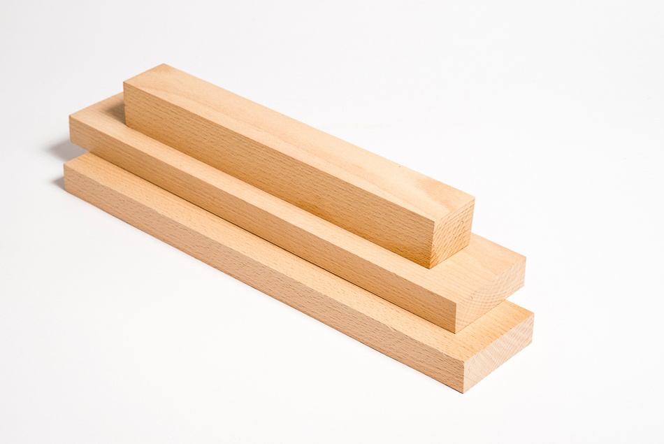pine and spruce wood components